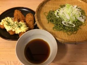 茶そば(+白身魚フライ)