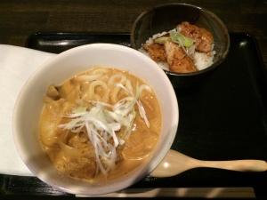 周庵(カレーうどん+豚丼セット)
